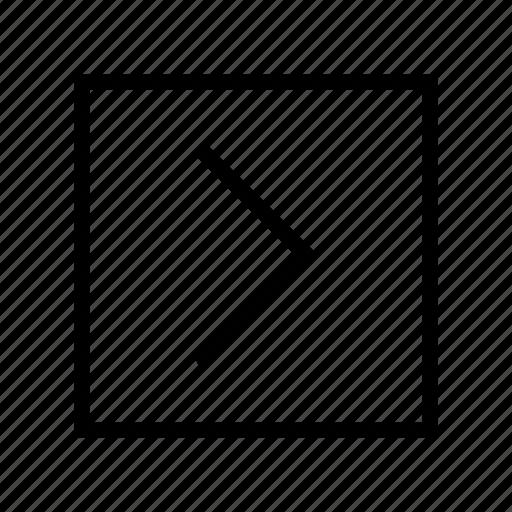 arrow, arrow right, move right, next, right, slide right icon