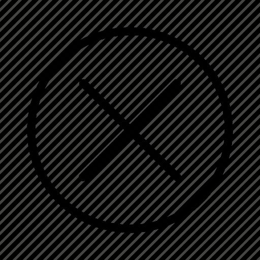 cancel, close, delete, remove, trash icon