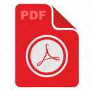 acrobat, adobe, api, file, pdf, rounded icon