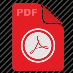 acrobat, adobe, api, file, pdf, rounded icon