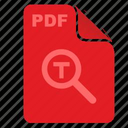acrobat, api, article, find, pdf, text icon