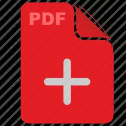 acrobat, add, adobe, api, file, pdf, plus icon