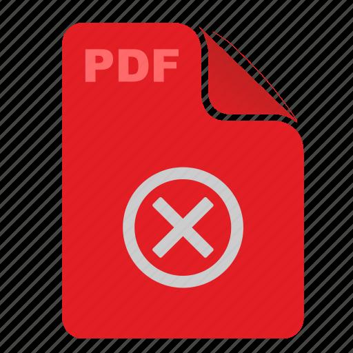 acrobat, api, close, delete, document, file, pdf icon