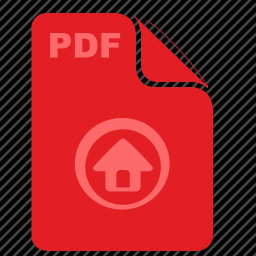 acrobat, article, home, pdf, text icon