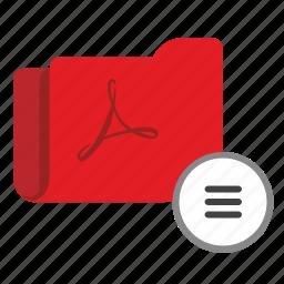 additional, api, folder, info, menu, pdf icon