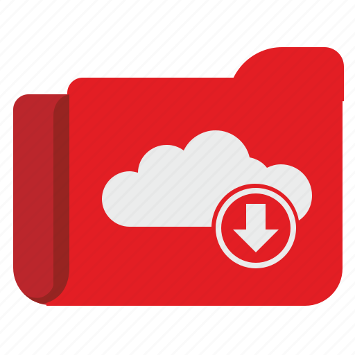 cloud, download, folder, storage, transfer icon