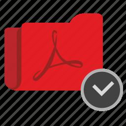 accept, api, complete, folder, ok, pdf, transfer icon