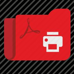 api, documents, files, folder, pdf, print icon