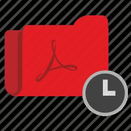 api, clock, file, pdf, process, time, wait icon