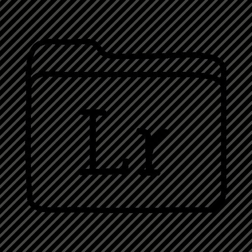 adobe lightroom, application, files, folder, folders, format, lightroom icon