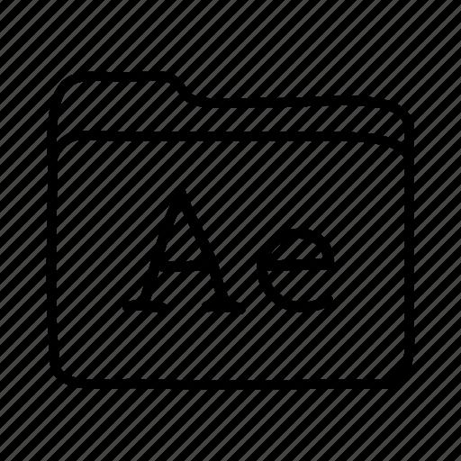 adobe aftereffects, application, files, folder, folders, format icon