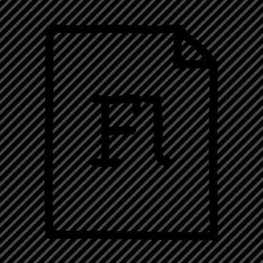 adobe flash, document, file, files, flash, page, sheet icon