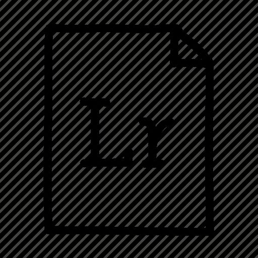 adobe lightroom, document, file, files, lightroom, page, sheet icon