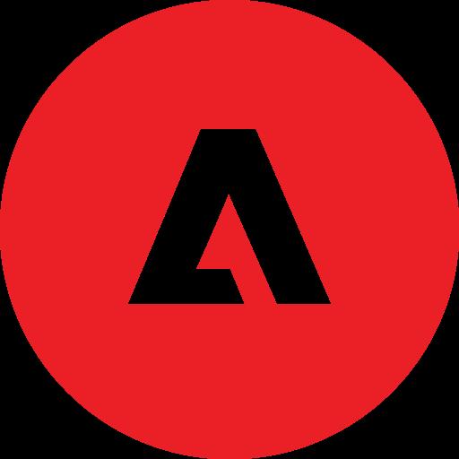 adobe, round icon