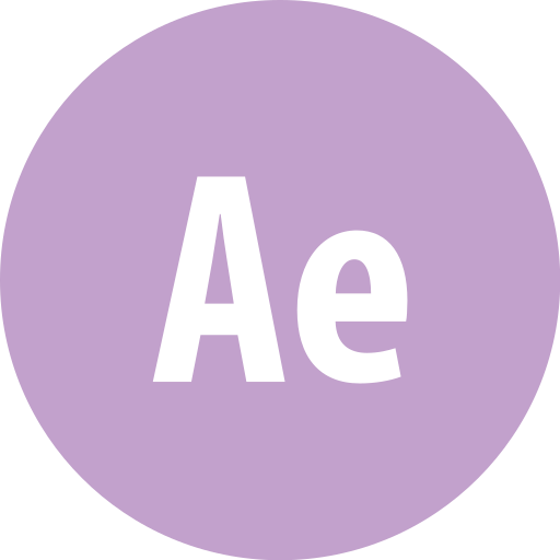 adobe, aftereffects, round icon