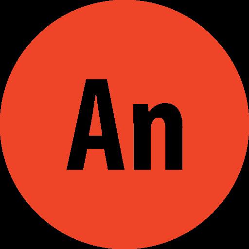 adobe, animate, round icon