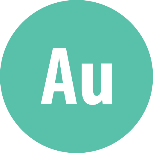 adobe, audition, round icon