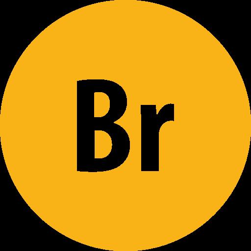 adobe, bridge, round icon
