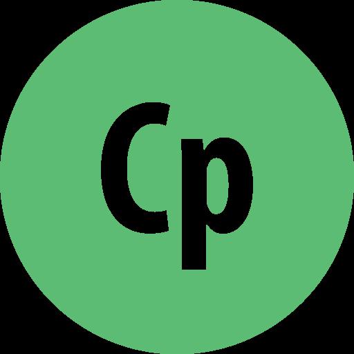adobe, captivate, round icon