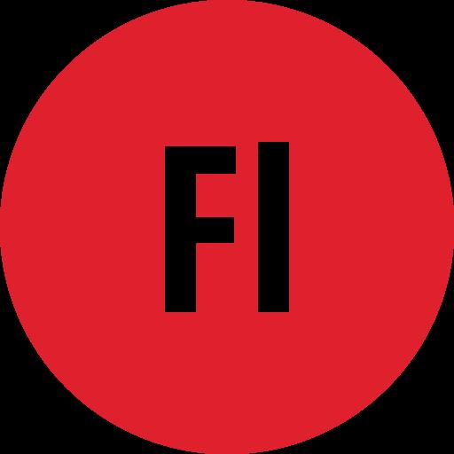 adobe, flash, round icon