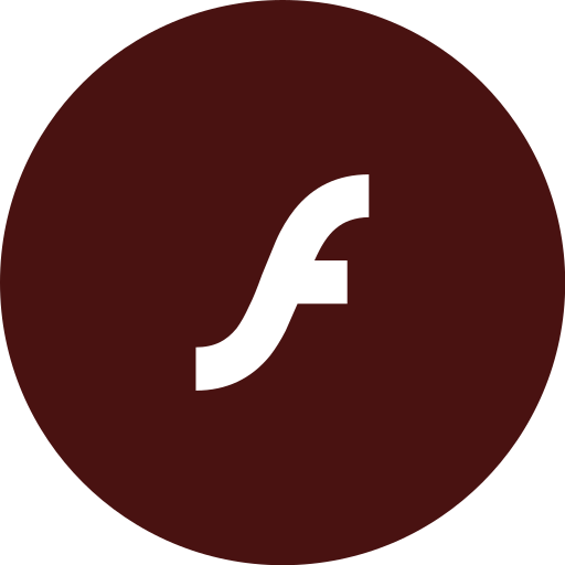 adobe, flashplayer, round icon