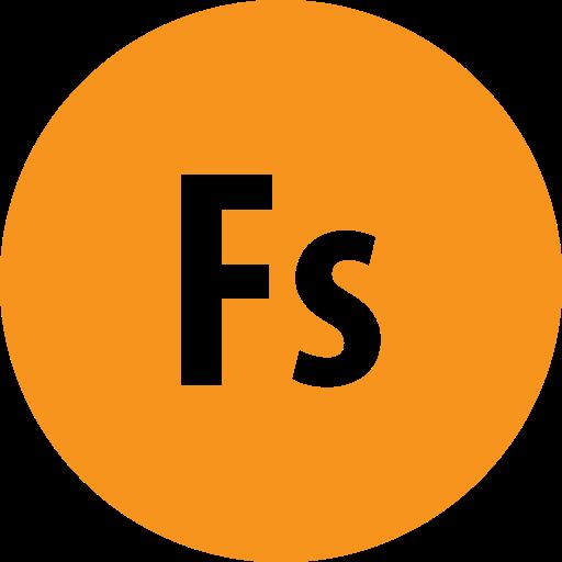 adobe, fuse, round icon