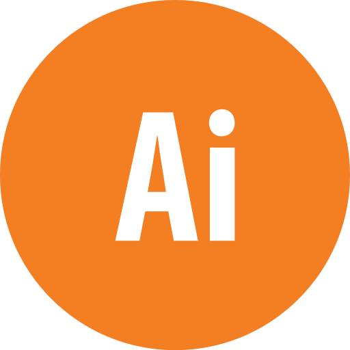 adobe, illustrator, round icon