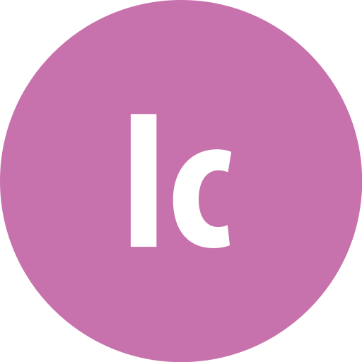 adobe, incopy, round icon