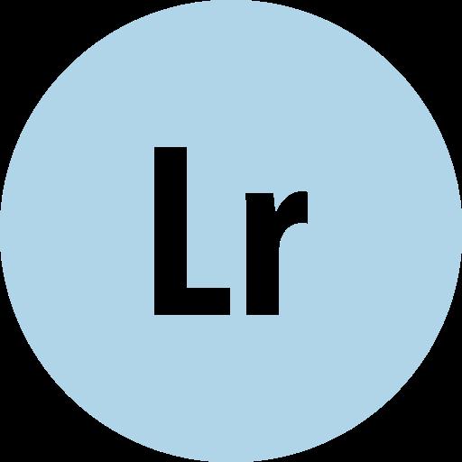 adobe, lightroom, round icon
