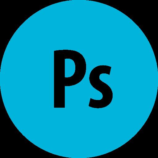 Adobe Photoshop Round Icon