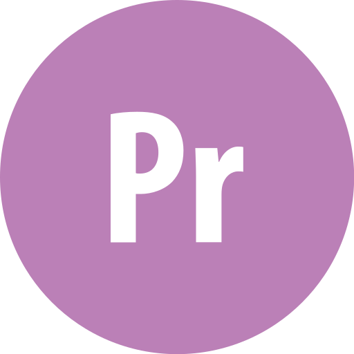 adobe, premiere, round icon