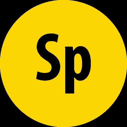 adobe, round, spark icon
