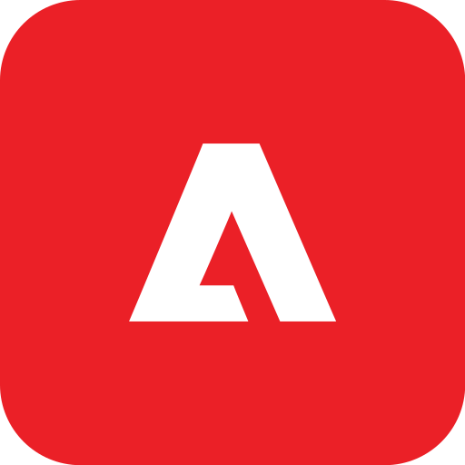 adobe, rounded icon