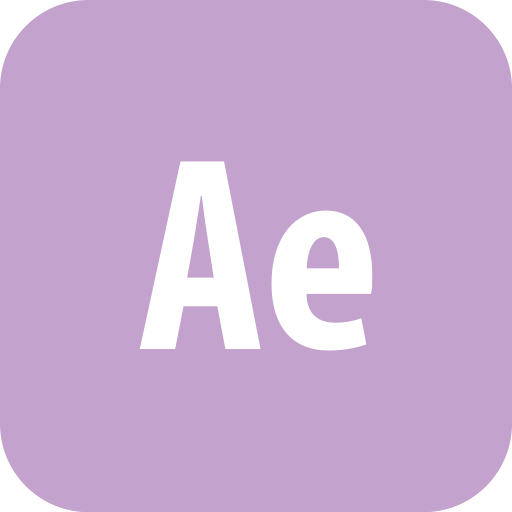adobe, after effects, aftereffects, rounded icon