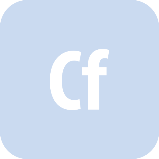 adobe, cold fusion, coldfusion, rounded icon