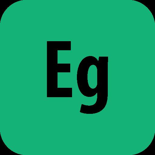 adobe, edge, rounded icon