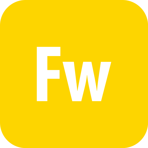 adobe, fireworks, rounded icon