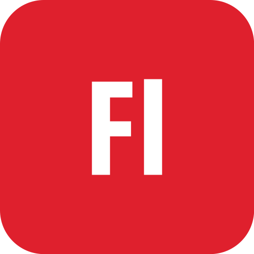 adobe, flash, rounded icon