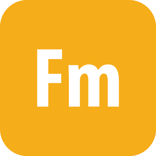 adobe, framemaker, rounded icon
