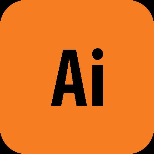 adobe, illustrator, rounded icon