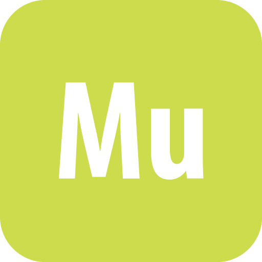 adobe, muse, rounded icon