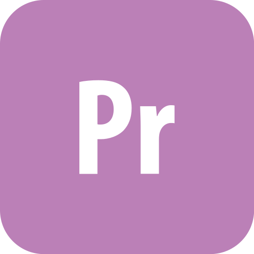 adobe, premiere, rounded icon