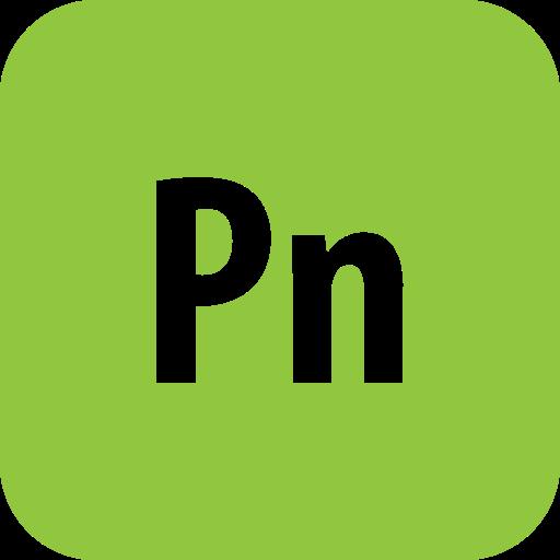 adobe, presenter, rounded icon
