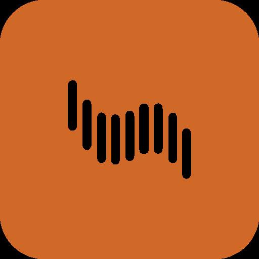 adobe, rounded, shockwave icon