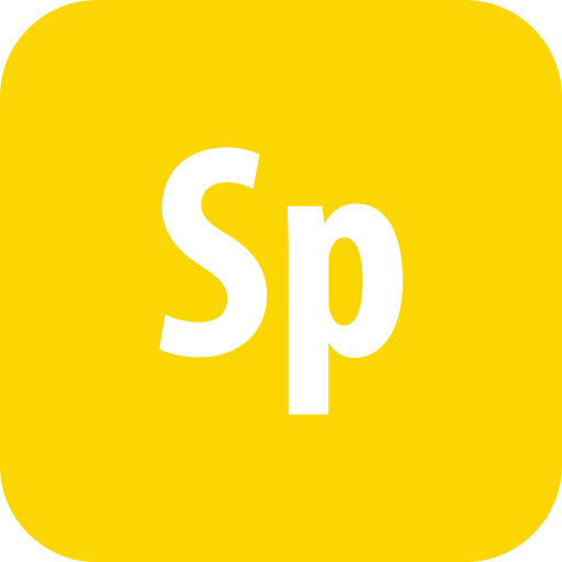 adobe, rounded, spark icon