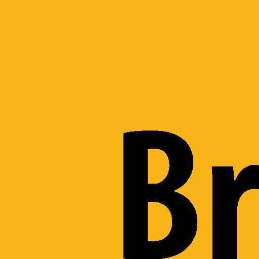 adobe, bridge, square icon