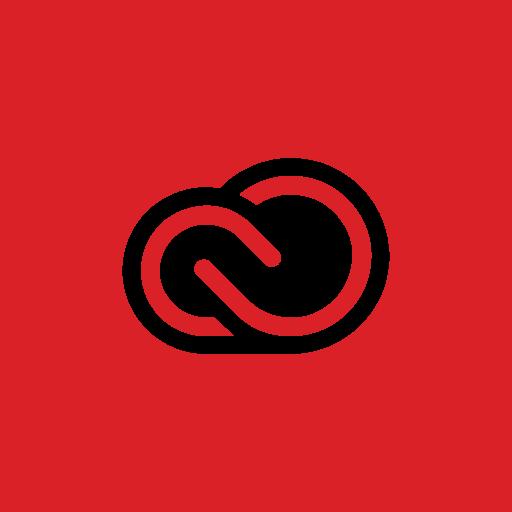 adobe, creativecloud, square icon