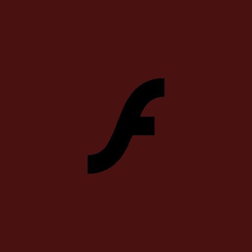 adobe, flashplayer, square icon