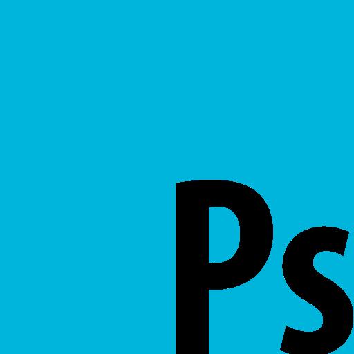 adobe, photoshop, square icon