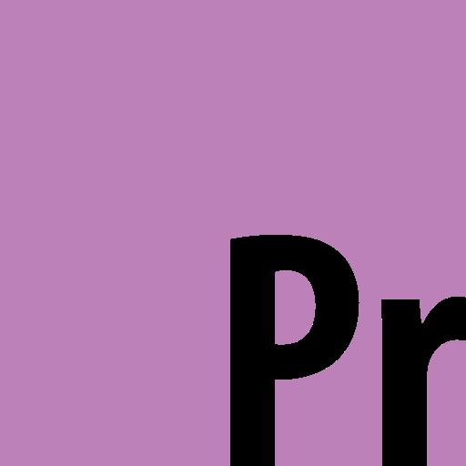 adobe, premiere, square icon